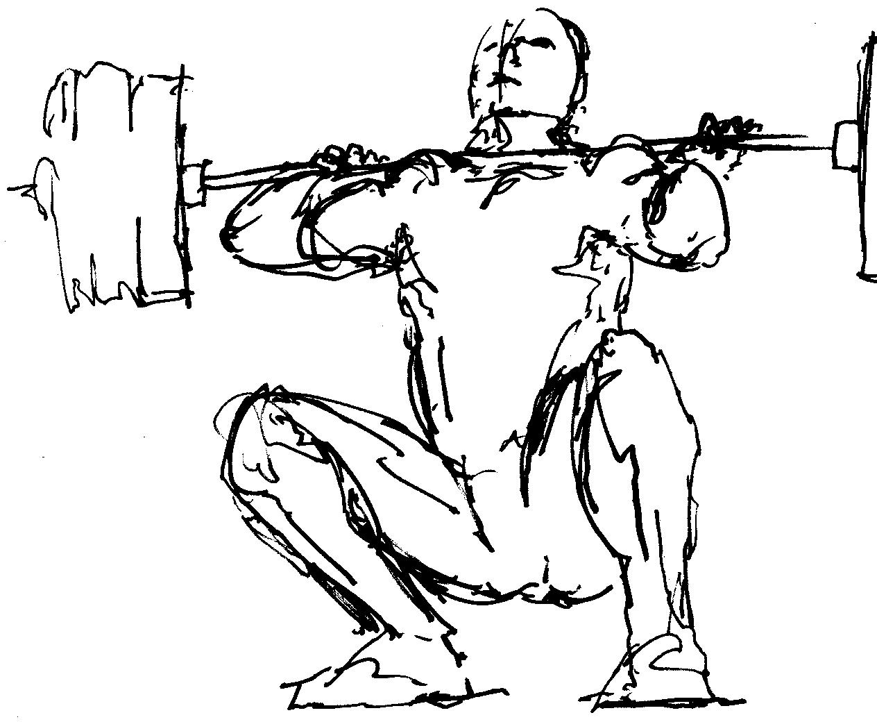 Overhead Squat Drawing Pin Weight-lifting-09-...