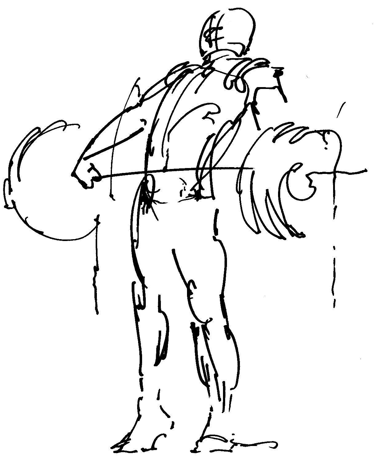 Weight lifting drawing images for Weightlifting coloring pages