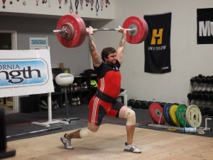 Rick walked away with a 110 snatch and 140 clean and jerk.  His best in comp before this was 98/125.