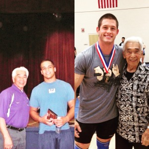 The photo on the left was taken 9 years ago at the first Kono.  I feel like Tommy has probably aged better than me.